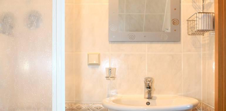 Badezimmer unseres Einzelzimmers